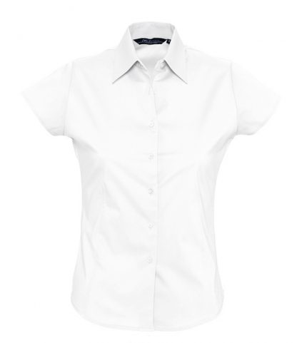 SOLS Ladies Excess S/S Shirt White XXL (17020 WHI XXL)