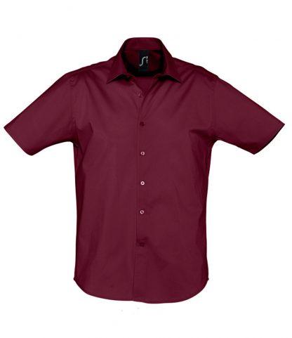 SOLS Broadway S/S Shirt Burgundy 4XL (17030 BUR 4XL)