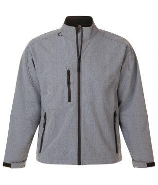 SOLS Relax Softshell Jacket Grey marl 4XL (46600 GYM 4XL)