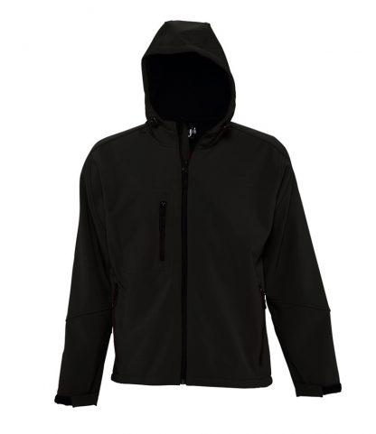SOLS Replay Hooded Softshell Black 3XL (46602 BLK 3XL)