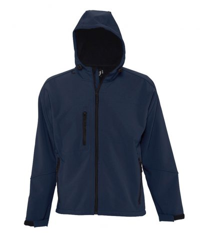 SOLS Replay Hooded Softshell French navy 3XL (46602 FNA 3XL)