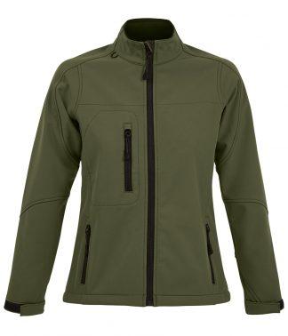 SOLS Lds Roxy Softshell Jacket Army XXL (46800 ARM XXL)