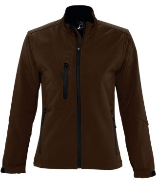 SOLS Lds Roxy Softshell Jacket Dark Chocolate XXL (46800 DCH XXL)