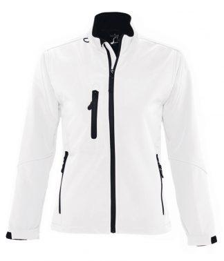 SOLS Lds Roxy Softshell Jacket White XXL (46800 WHI XXL)