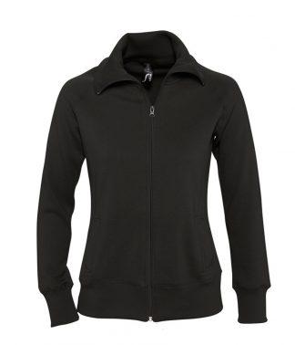 SOLS Lds Soda Sweat Jacket Black XXL (47400 BLK XXL)