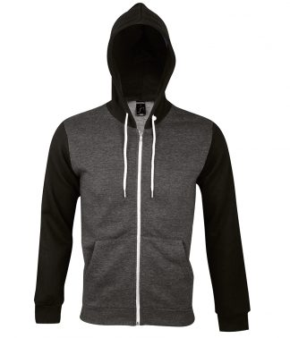 SOLS Silver Hooded Jacket Charcoal marl XXL (47700 CHM XXL)