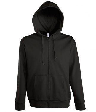 SOLS Seven Hooded Jacket Black 3XL (47800 BLK 3XL)