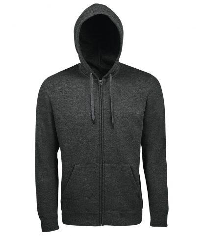 SOLS Seven Hooded Jacket Charcoal marl 3XL (47800 CHM 3XL)