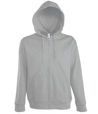 SOLS Seven Hooded Jacket Grey marl 3XL (47800 GYM 3XL)