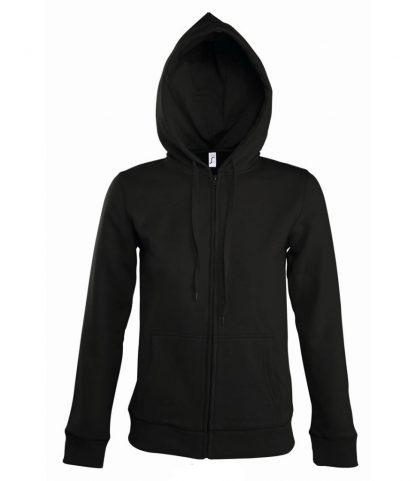SOLS Lds Seven Hooded Jacket Black XL (47900 BLK XL)