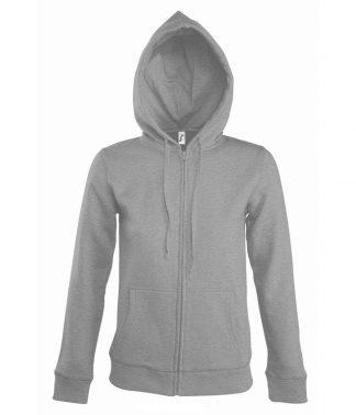 SOLS Lds Seven Hooded Jacket Grey marl XL (47900 GYM XL)