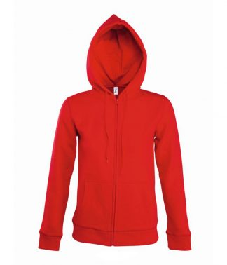 SOLS Lds Seven Hooded Jacket Red XL (47900 RED XL)