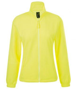 SOLS Lds North Fleece Jkt Neon Yellow XXL (54500 NYL XXL)