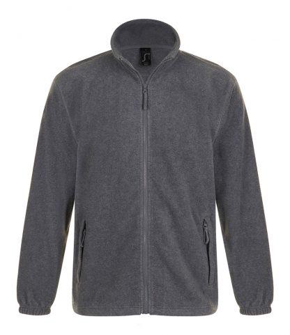 SOLS North Fleece Jacket Grey marl 5XL (55000 GYM 5XL)