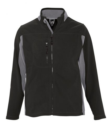 SOLS Nordic Fleece Jacket Black/grey XXL (55500 BK/GY XXL)