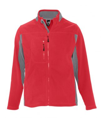 SOLS Nordic Fleece Jacket Red/grey XXL (55500 RD/GY XXL)
