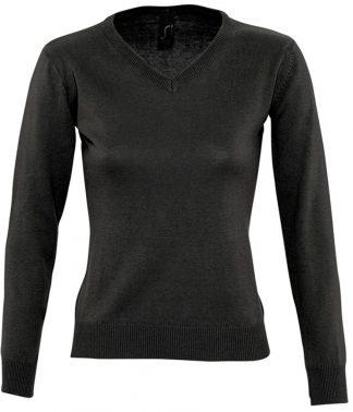 SOLS Lds Galaxy V Sweater Black XXL (90010 BLK XXL)