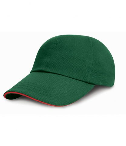 Result Heavy Brushed Cap Sandwich Peak Forest/red ONE (RC024P FO/RD ONE)