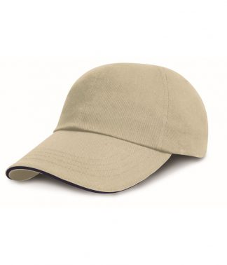 Result Heavy Brushed Cap Sandwich Peak Natural/navy ONE (RC024P NT/NV ONE)