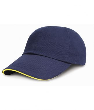 Result Heavy Brushed Cap Sandwich Peak Navy/yellow ONE (RC024P NV/YL ONE)