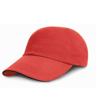 Result Heavy Brushed Cap Sandwich Peak Red/black ONE (RC024P RD/BK ONE)