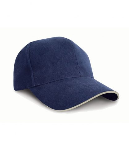 Result Pro-Style Hvy Brush. Cap Navy/natural ONE (RC025P NV/NT ONE)