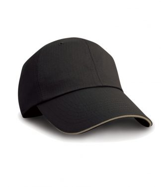 Result Herringbone Cap Black/tan ONE (RC038 BK/TN ONE)