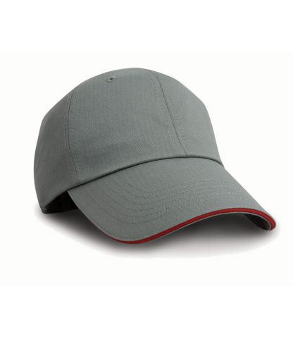 Result Herringbone Cap Grey/red ONE (RC038 GY/RD ONE)