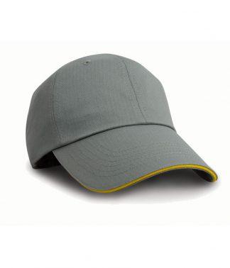 Result Herringbone Cap Grey/yellow ONE (RC038 GY/YL ONE)
