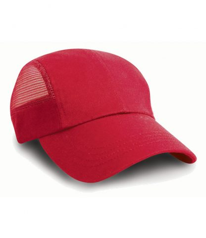 Result Sports Cap with Mesh Red ONE (RC047 RED ONE)