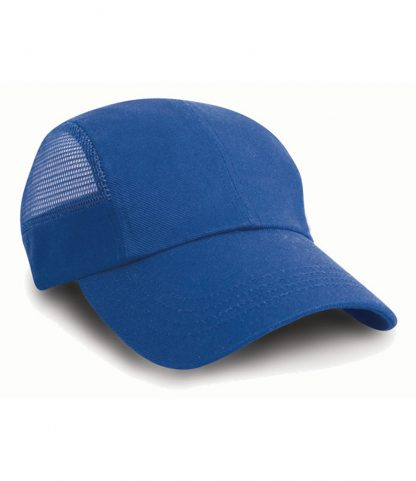 Result Sports Cap with Mesh Royal ONE (RC047 ROY ONE)
