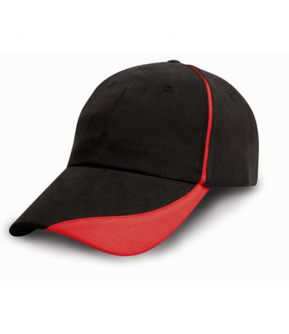 Result Heavy Cap with Scallop Peak Black ONE (RC051 BLK ONE)