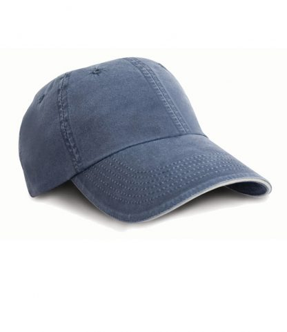 Result Washed Fine Line Cotton Cap Navy ONE (RC054 NAV ONE)