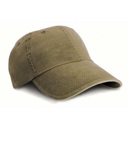 Result Washed Fine Line Cotton Cap Olive ONE (RC054 OLI ONE)