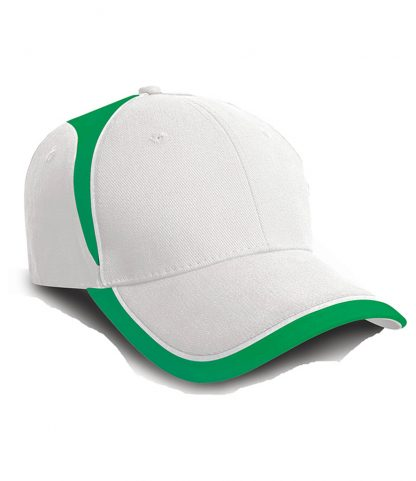 Result National Cap White/emerald ONE (RC062 WH/EM ONE)
