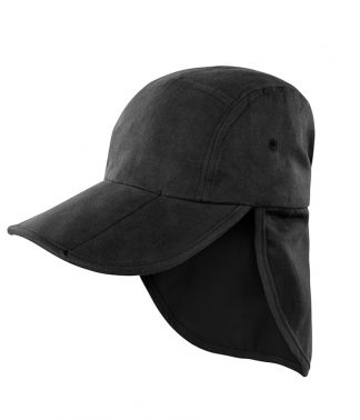 Result Fold Up Legionnaires Cap Black ONE (RC076 BLK ONE)